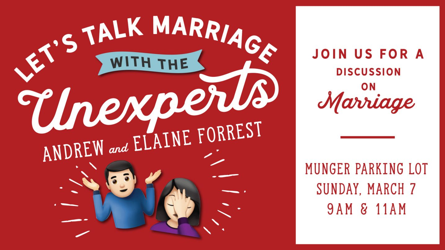 Let's Talk Marriage With the Unexperts