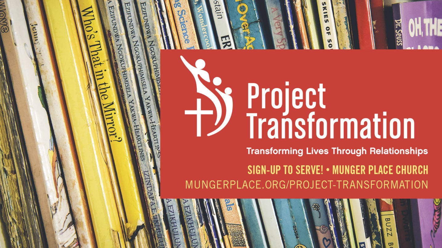 Volunteer to Read at Project Transformation