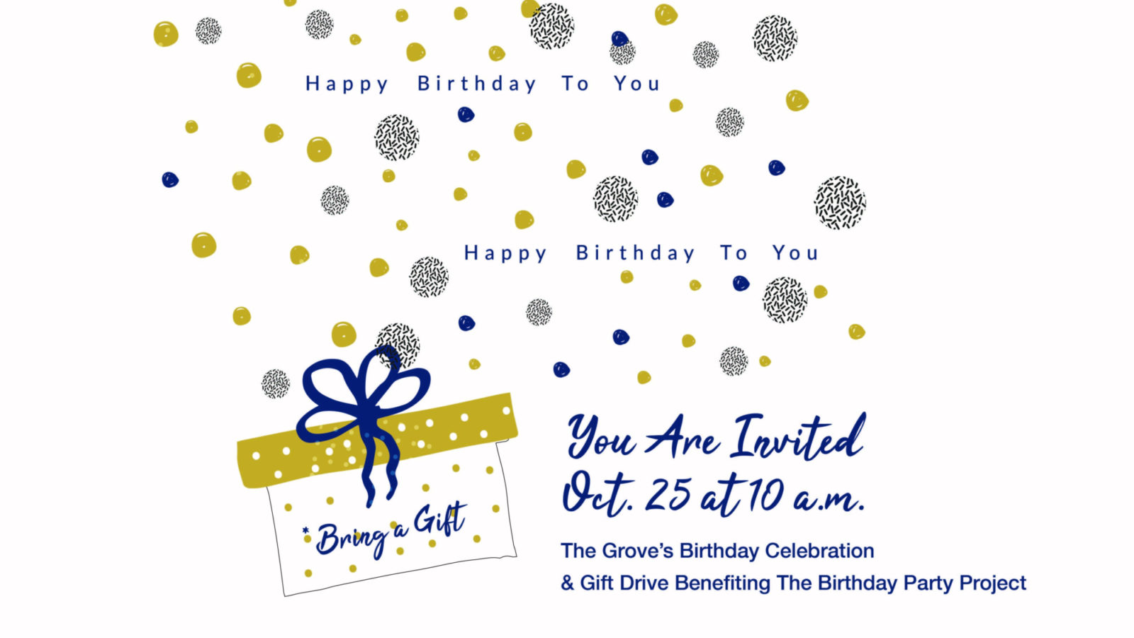 Grove's 3rd Birthday Celebration