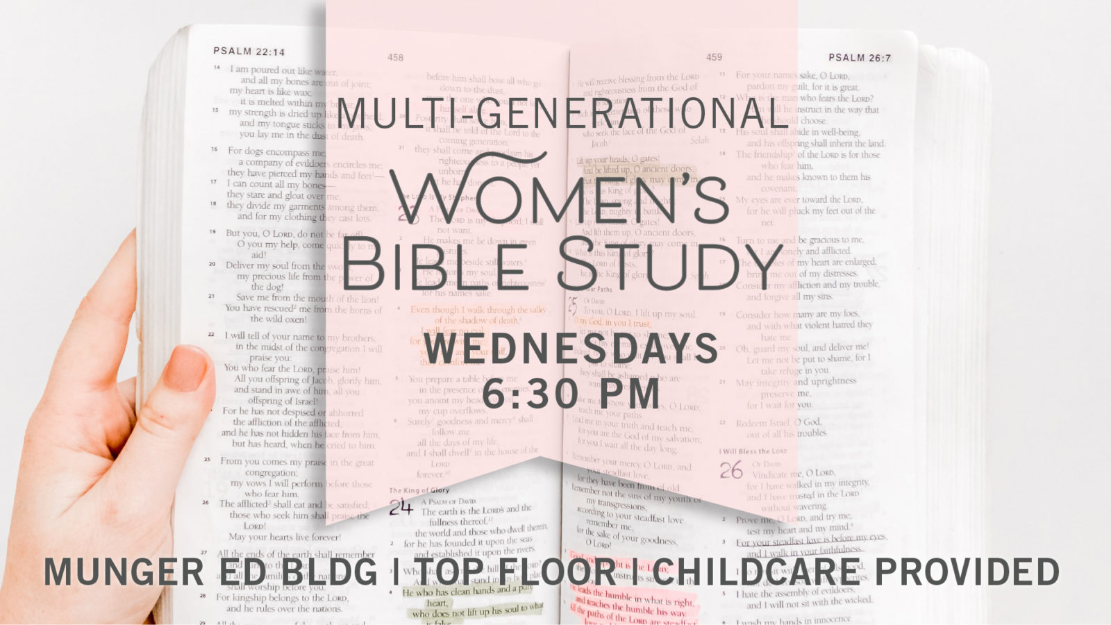 Women's Wednesday Evening Bible Study