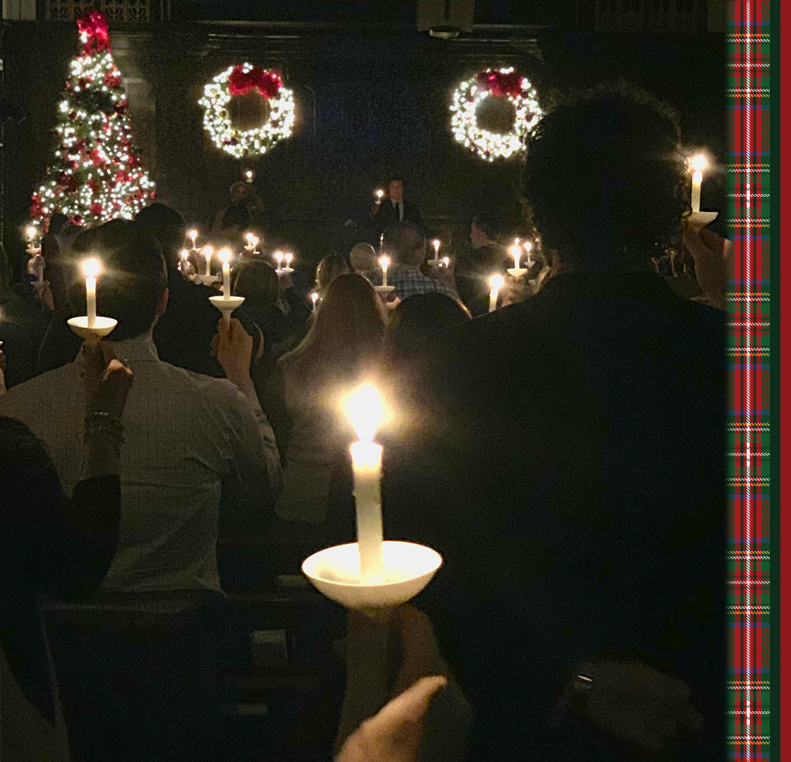 Candlelight Xmas Eve Plaid Image