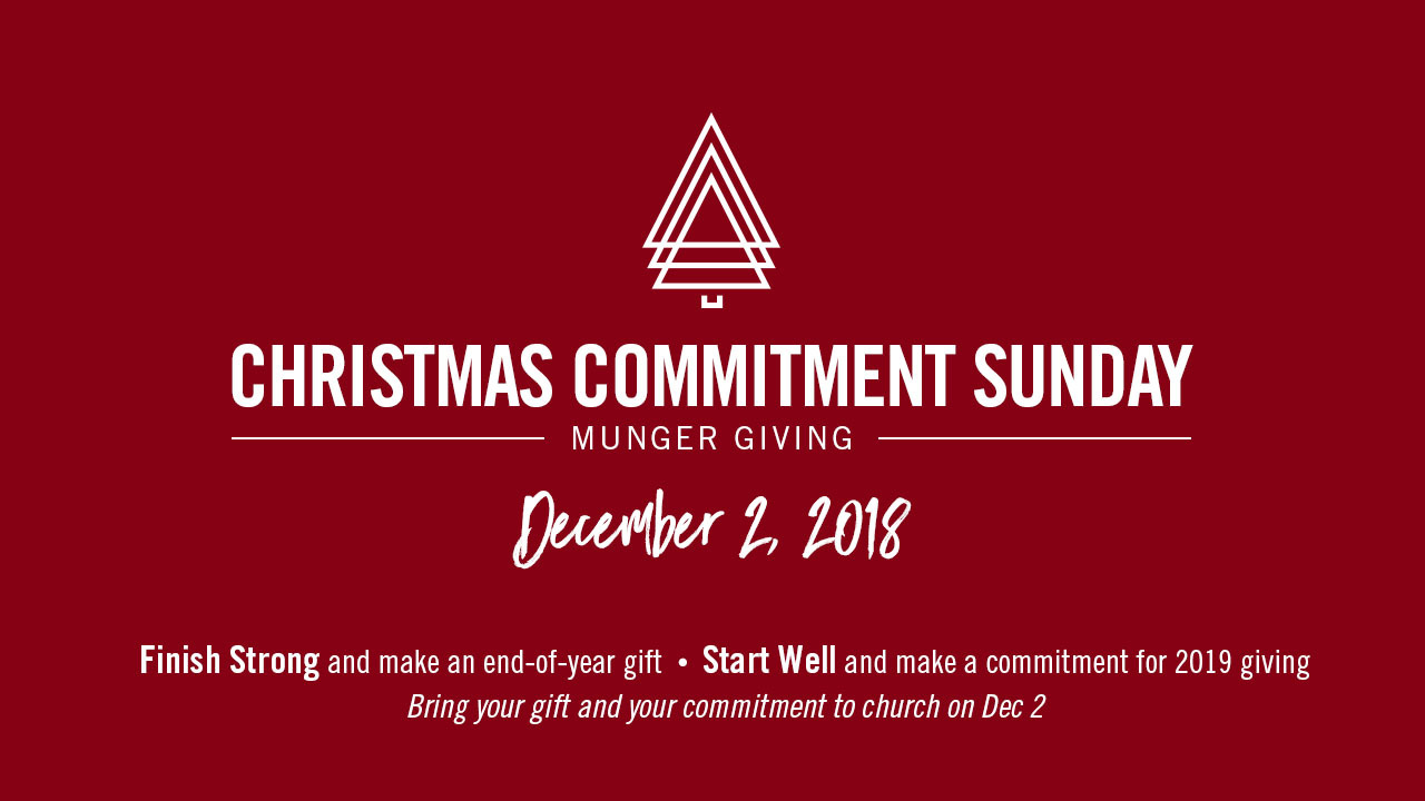 Christmas Commitment Sunday 2018